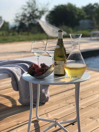 Belves-De-Castillon, ฝรั่งเศส: Love the pool
