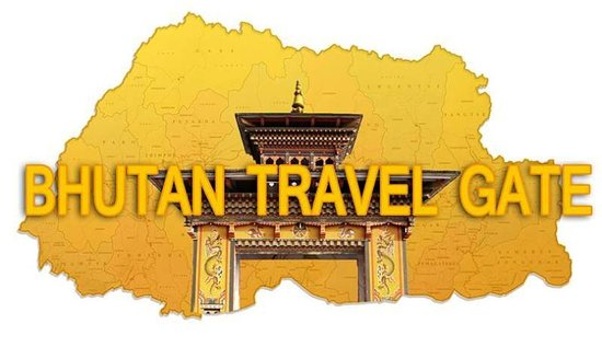 Thimphu District, Bhutan: Bhutan Travel Gate logo signifies ''Land of the thunder Dragon'' and Gross National Happines cou