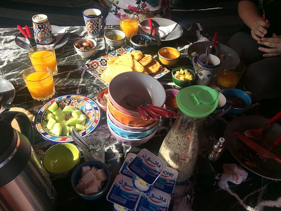 Moulay Idriss, Marruecos: The breakfast served in the morning
