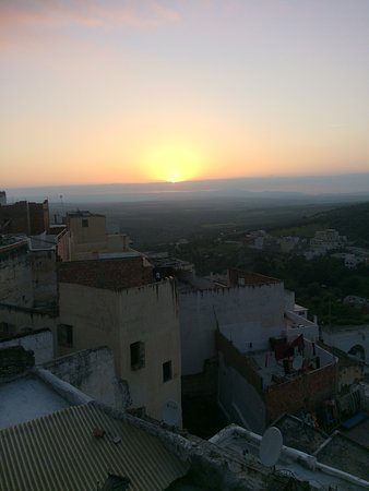 Moulay Idriss, Morocco: sunset from the terrace