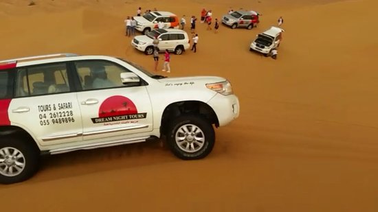 Group is enjoying with Dream Night Tours in Desert