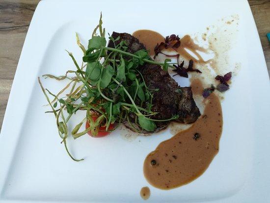 Lanaken, بلجيكا: Black Angus filet pure met pepersaus.