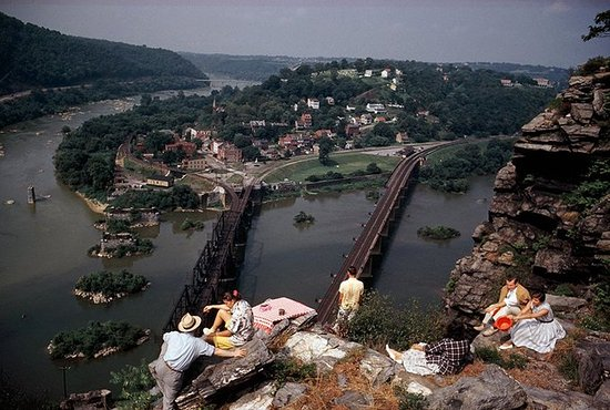Harpers Ferry from Maryland Heights 1962