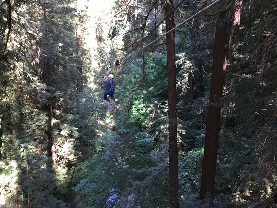 Mount Hermon, Kalifornien: zipping through the redwoods in felton california