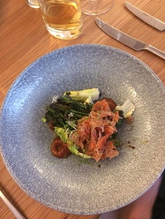 Restaurant Four: Maple Glazed Broccoli with Kimchi Starter