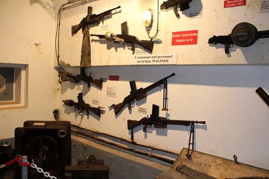Ouvrage du Simserhof : het gebruikte wapenarsenaal