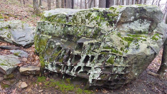 Highland Scenic Highway: One of the Honeycomb Rocks