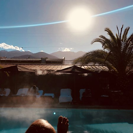 Sparrows Lodge: misters by the pool