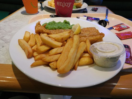 Cairnryan, UK: Fish and chips for lunch, not bad