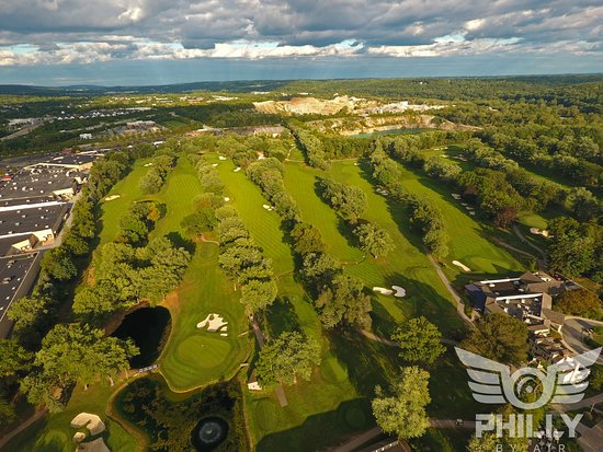 Downingtown, PA: Ariel Shot of the course