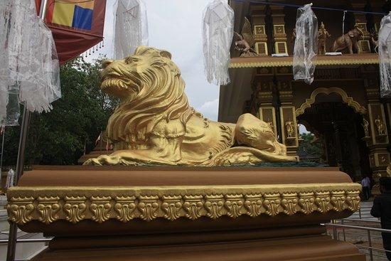 Polgahawela, Sri Lanka: Gold lions