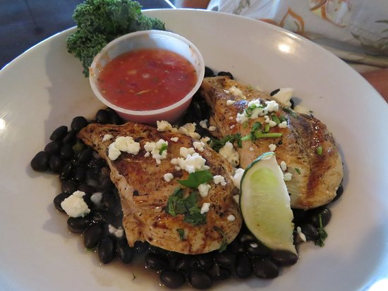 Etowah, TN: Lime Chicken Entree with Black Beans and Feta Cheese