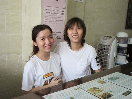 Hotel Xoai: These two young ladies were indispensable when it came to my asking questions and getting their