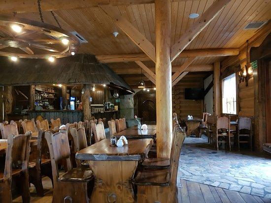 Gdow, Poland: W restauracji