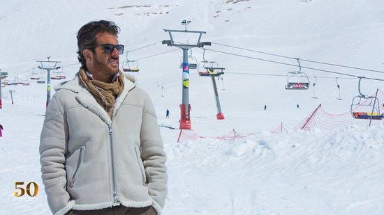 Kfardebian, Lebanon: Na pista de esqui