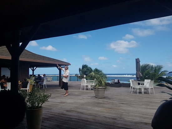Saleapaga, Samoa: View from reception end. Restaurant end is way better.