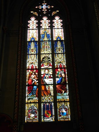 Chapel of the Maccabees: Stained glass window