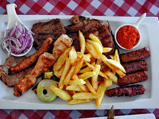 Zaostrog, Croatia: Grillteller