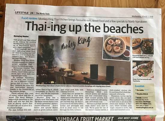 ‪‪North Narrabeen‬, أستراليا: Monkey King Thai Narrabeen, best Thai in Narrabeen, Thai Food‬