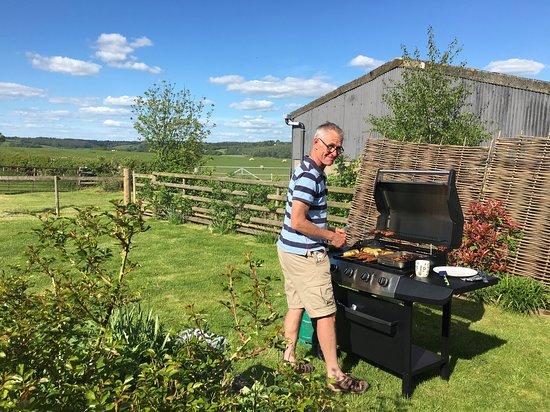 Vowchurch, UK: B B Q in garden