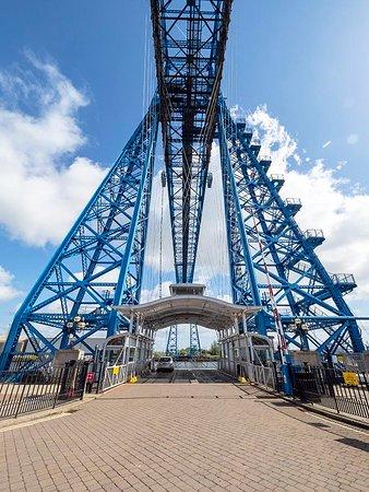 Tees Transporter Bridge: LEAVING MIDDLESBROUGH FOR PORT CLARENCE