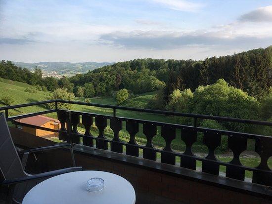 Moerlenbach, Alemanha: vue de notre chambre