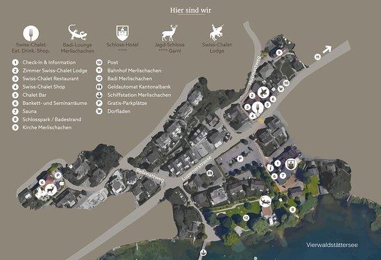 Merlischachen, İsviçre: Lageplan