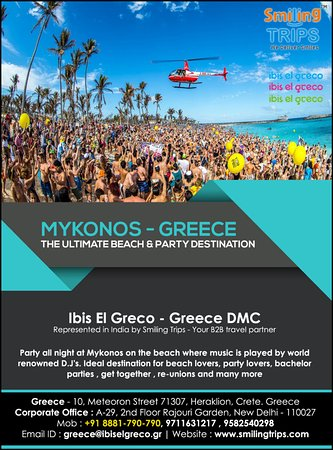 Mykonos party - Picture of Smiling Trips & Holidays, Katra