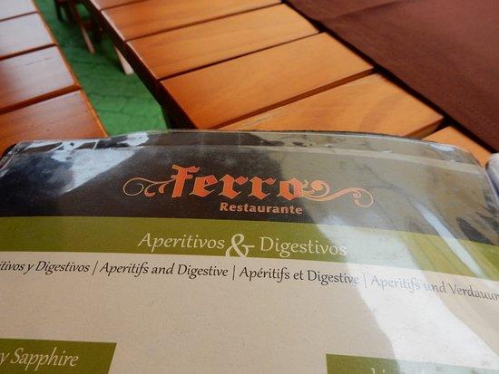 Restaurante Ferro: Menu