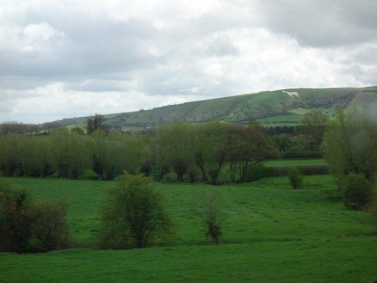 Westbury, UK: from the train Salisbury to Bath