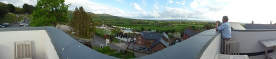 Bodfari, UK: The Vale of Clwyd from the roof terrace of the Dinorben Arms
