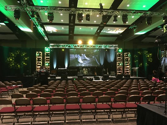Northern Kentucky Convention Center: Ballroom set Theater Style
