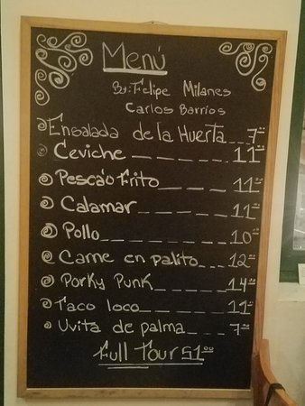 Manolo Caracol: Menu changes daily, but here was ours from March 2018. A+++++