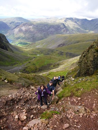 Kendal, UK: Ascending to Mickledore on Scafell Pike. Guided Fell-walking Days