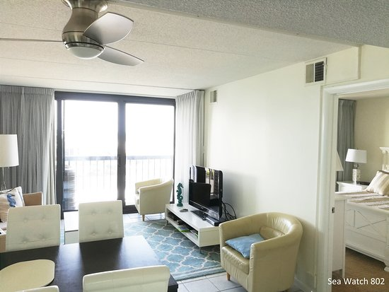 Sea Watch Condominium: unit 802 - living room
