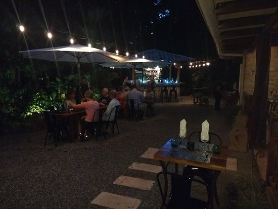 Ojochal, Costa Rica: Área del jardín con vista al bar