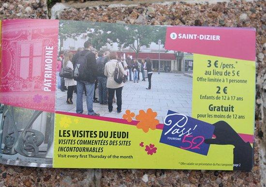 Saint-Dizier, ฝรั่งเศส: Avec le pass 52, on peut bénéficier d'une réduction