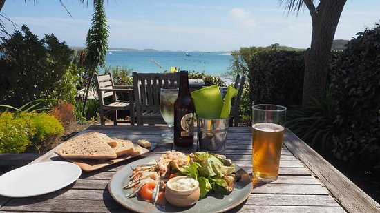 ‪‪Tresco‬, UK: Seafood Platter at the Ruin‬