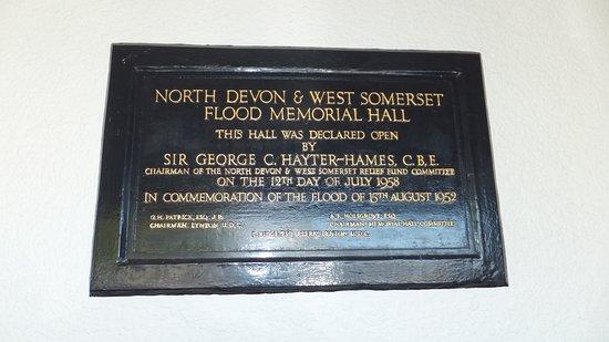 Tourist Information Centre / Town Hall: the plaque