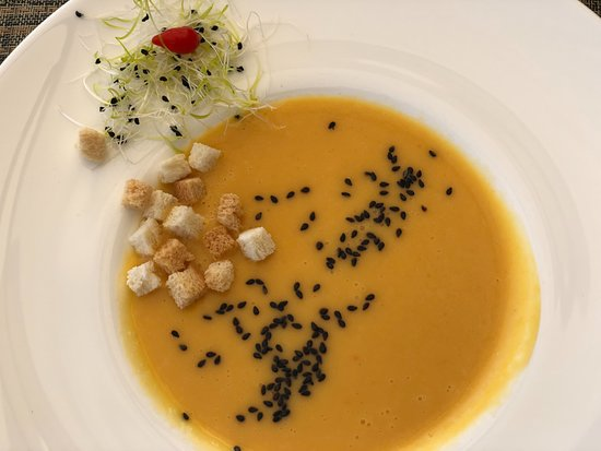 Raseiniai, ليتوانيا: Pumpkin soup