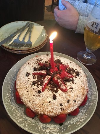 Enjoyable Our Homemade Bday Cake Served To Us Picture Of Pesto At The Axe Personalised Birthday Cards Veneteletsinfo