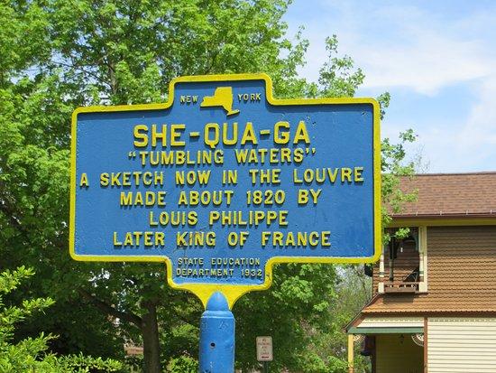 Montour Falls, Estado de Nueva York: Shequaga information sign