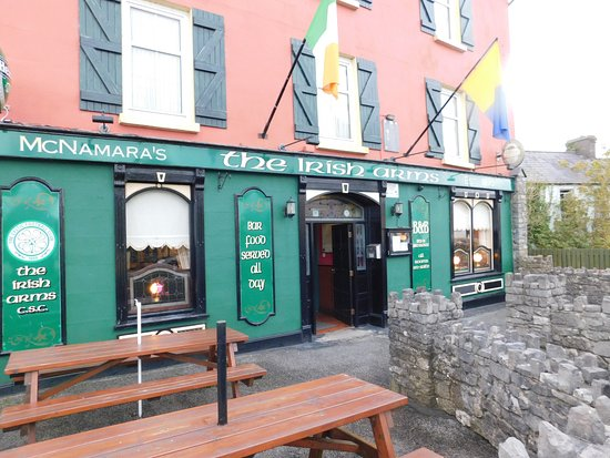 The Irish Arms: Outside the pub