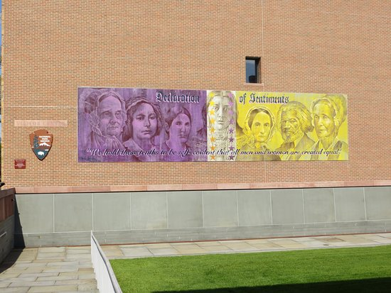 Seneca Falls, NY: Mural? on Visitor Center Wall