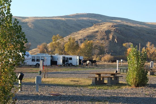 Mackay, ID: Horse camp at the park during Fall hunting season