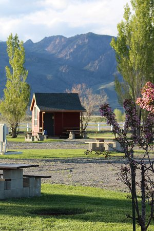 Mackay, ID: One of two sleeping cabins available at the park.