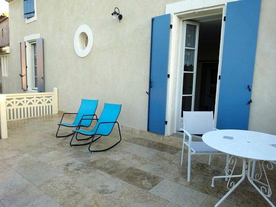Servian, فرنسا: Terrasse privée de la chambre 4. Un bonheur !