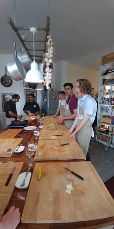 Cook With Us in Rome: cooking in the kitchen