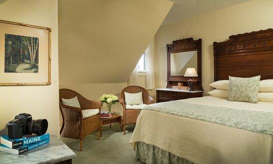 Castine, ME: Guest rooms designed for your comfort at The Pentagoet Inn & Restaurant