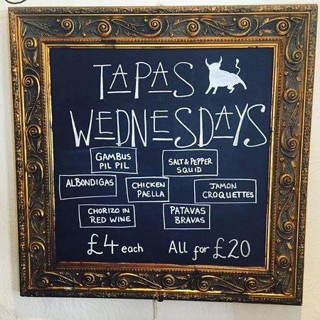 Princes Risborough, UK: Our new Tapas Wednesday 6-9pm
